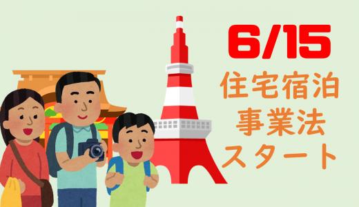 6/15住宅宿泊事業法(民泊新法)スタートに関してのチラシ(PDF)